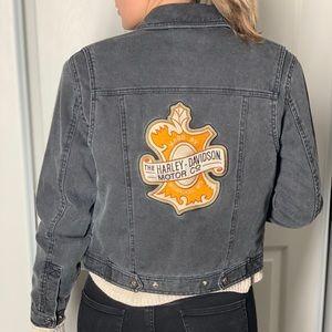 Harley Davidson corduroy jean motorcycle jacket